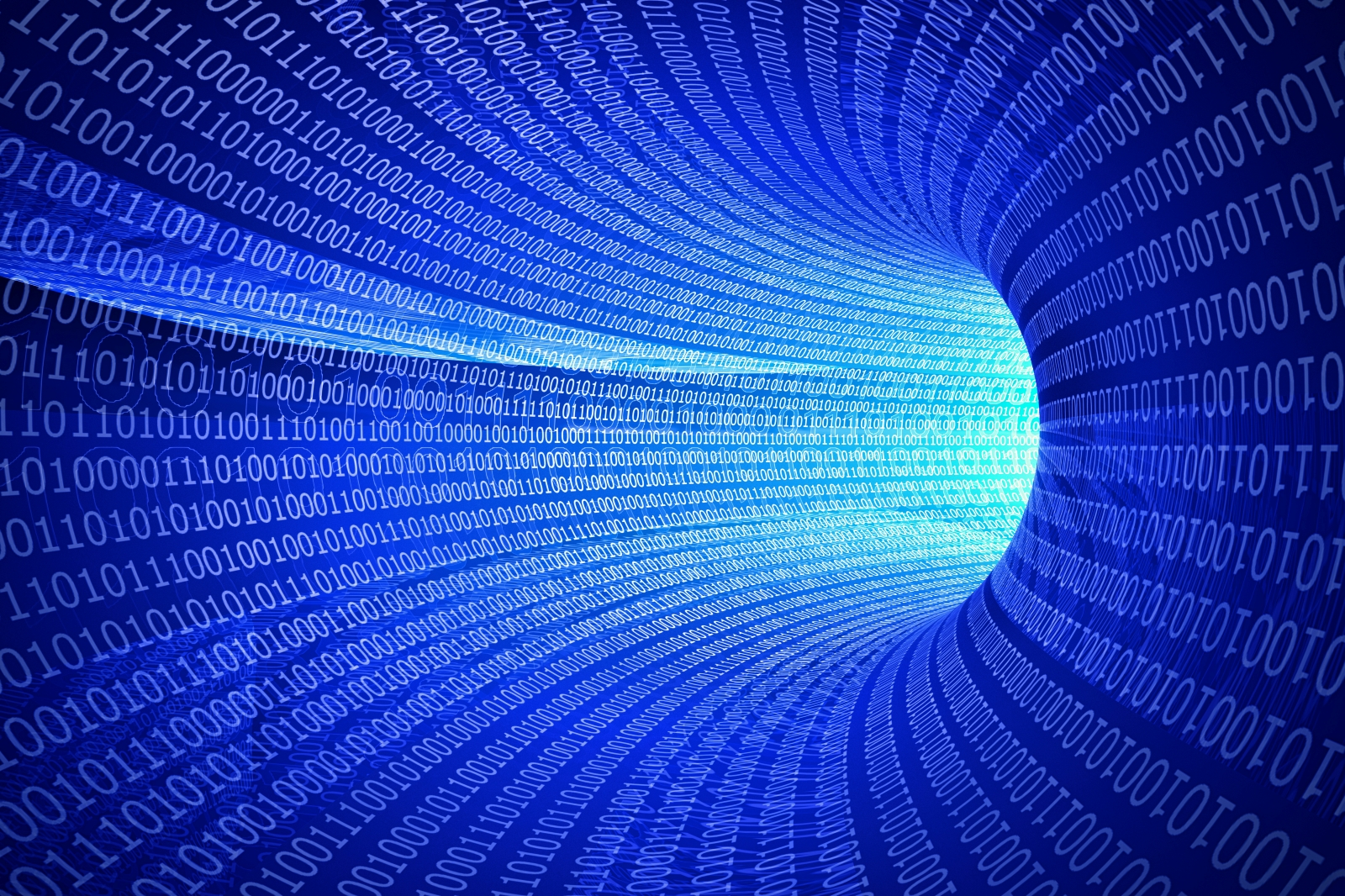Abstract 3D Tunnel Binary Code